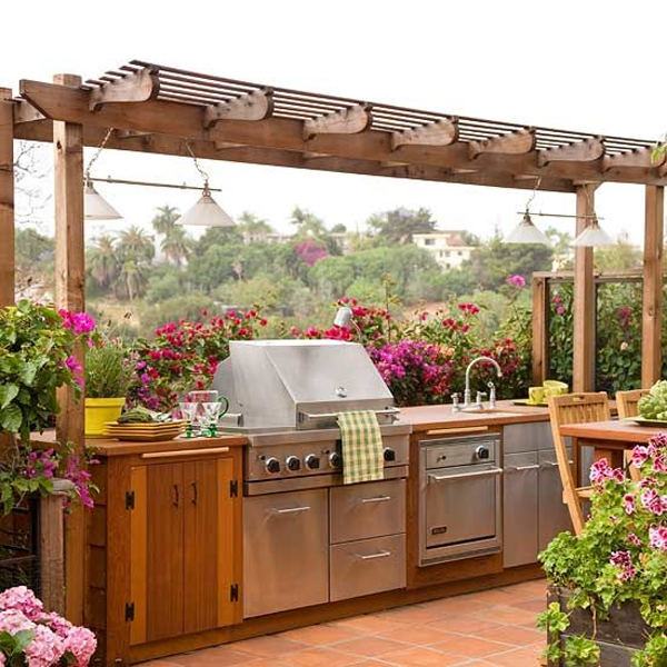 20 beautiful outdoor kitchen ideas 101 recycled crafts for Kitchen designs outside
