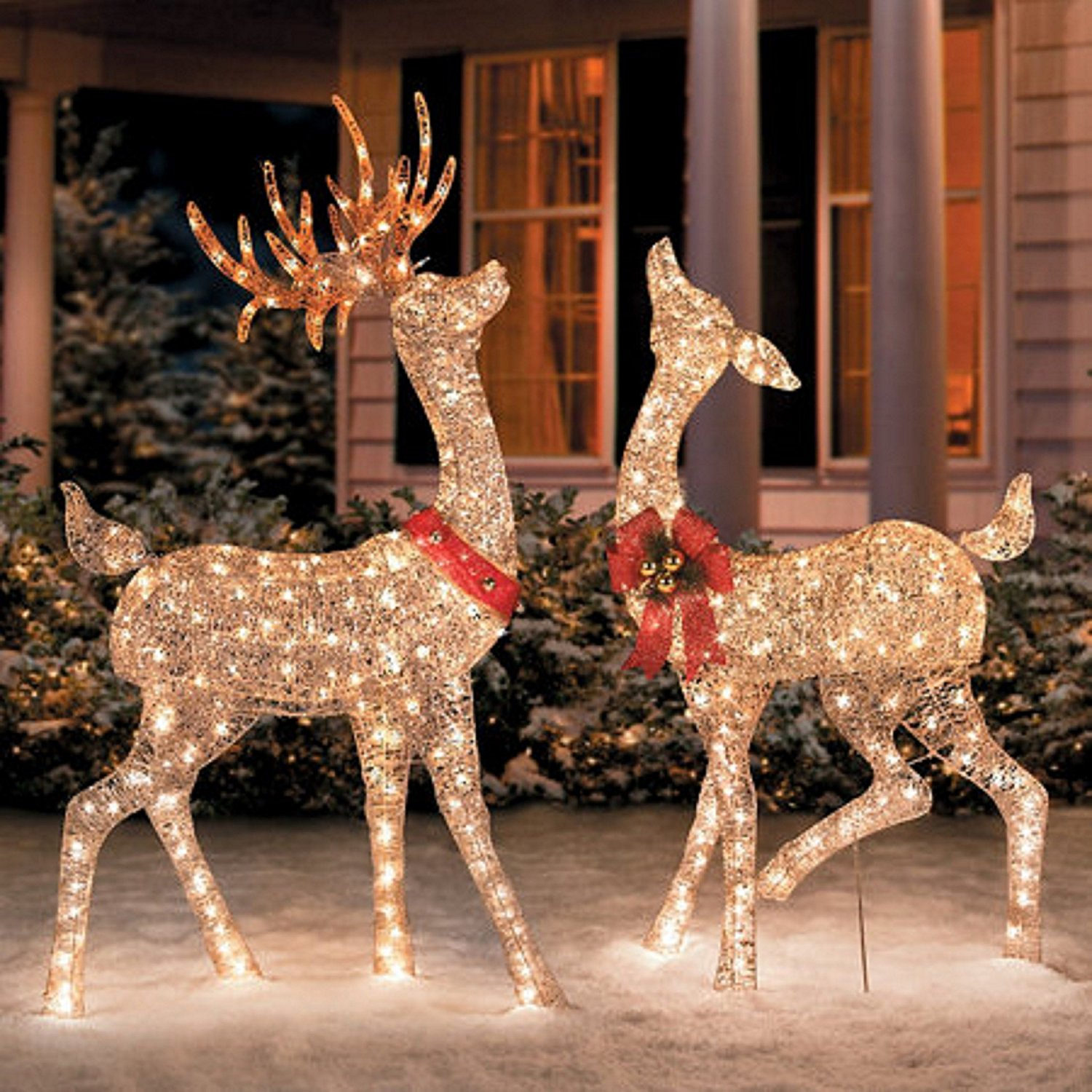 Outdoor Christmas Reindeer With Lights